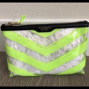 🆕Victoria's Secret Fluorescent Green Make up Bag